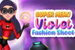Superhero Violet: Fashion Shoot